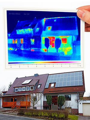 thermal imaging of a twin house